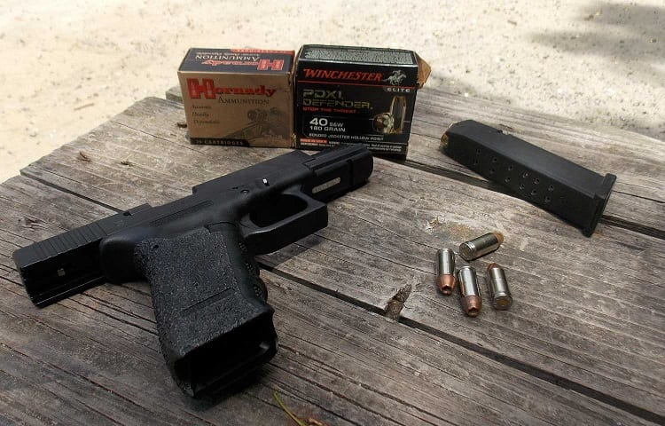 ammo and 40mm glock