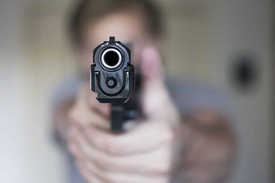 aim a pistol