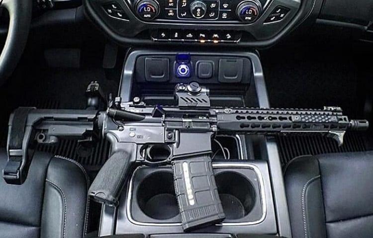 is AR pistol in car legal?