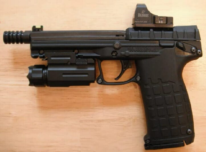 pistol with red dot sight