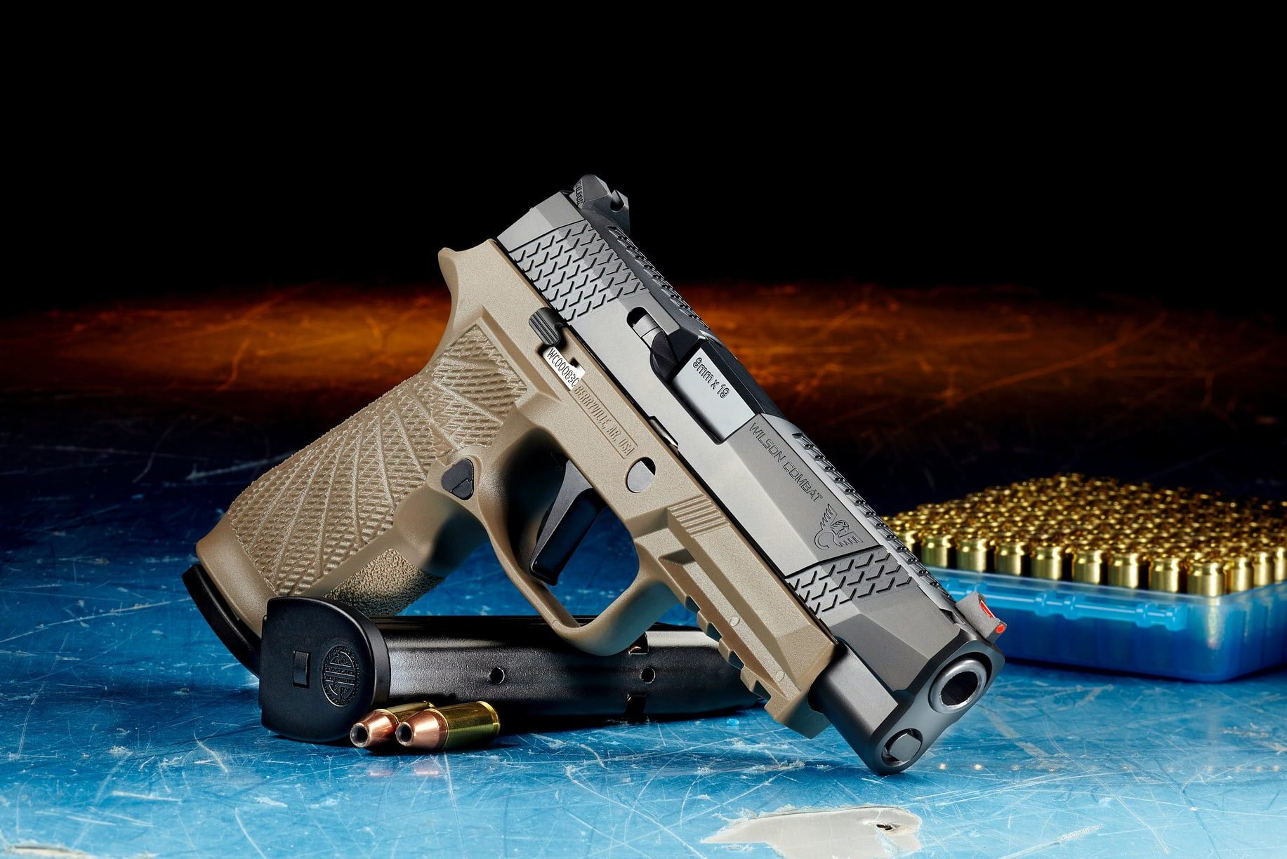 how do night sights on a pistol work